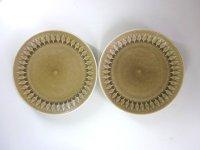 KRONJYDEN(クロニーデン) Relief/Leafシリーズ ケーキプレート 2枚セット 印あり