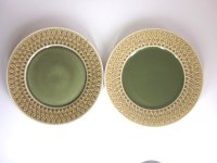 KRONJYDEN(クロニーデン) Relief/Leafシリーズ ランチプレート 2枚セット 印なし